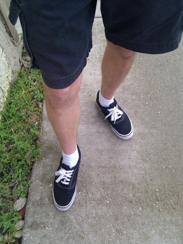 Shorts, short socks, and shoes!